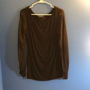 PattyBoutik long sheer sleeve shirt NWT Size Med